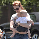 January Jones et son fils Alexander