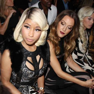 Nicki Minaj au défilé Hervé Léger le 7 septembre 2013 à la Fashion Week de New York