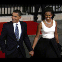 Photo : Barack et Michelle Obama main dans la main