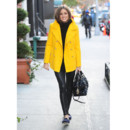 Olivia Palermo et son manteau jaune dans les rues de New York, novembre 2012