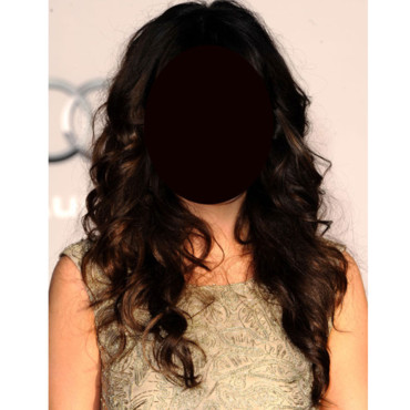 Zooey Deschanel cascade de cheveux bruns
