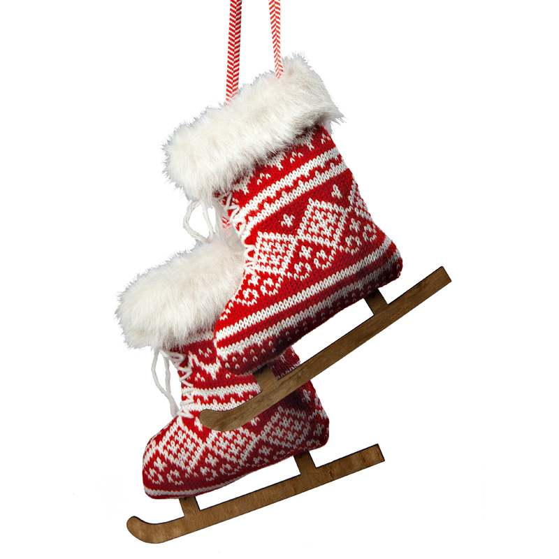 D co de no l un sapin de style chalet traditionnel suspensions patins t - Truffaut sapin de noel ...