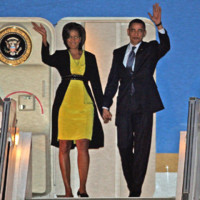 Photo : Michelle Obama et Barack Obama à Londres