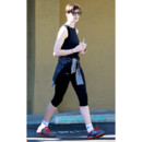 Anne Hathaway en train de faire son jogging