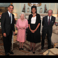 Photo : Le couple Obama face au couple royal d'Angleterre