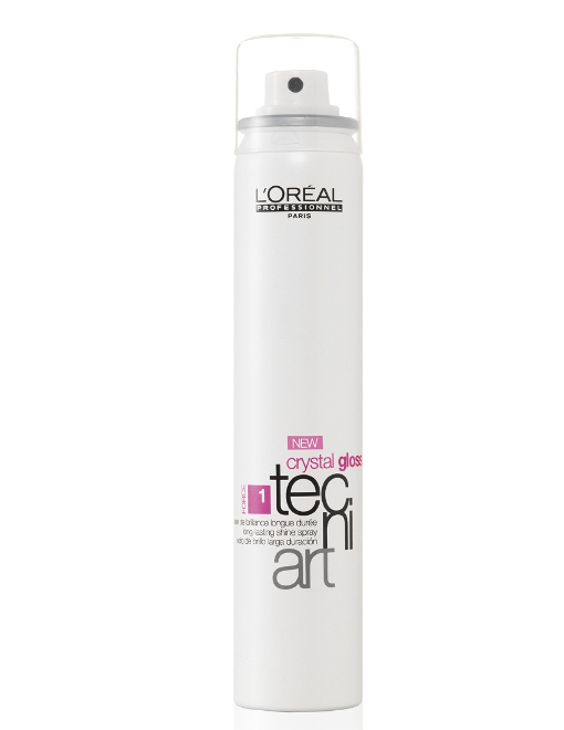 Soins cheveux : spray de brillance Crystal gloss Tecniart