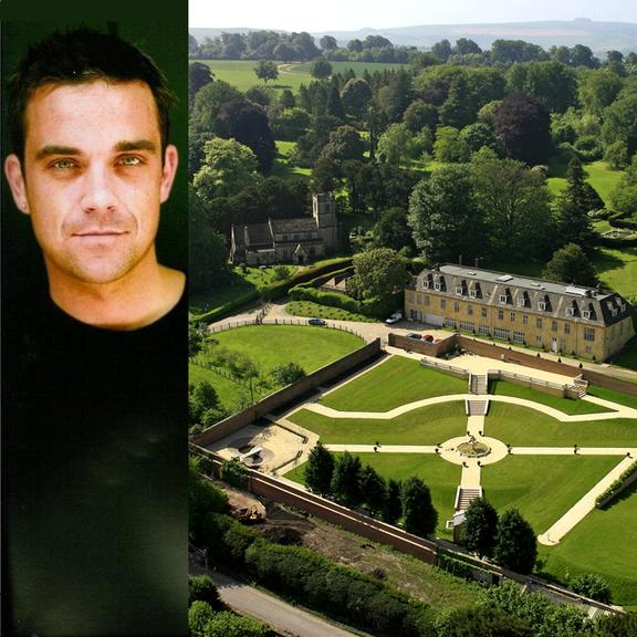 maison de stars le manoir de robbie williams entrez. Black Bedroom Furniture Sets. Home Design Ideas