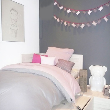 Chambre d 39 enfant les univers color s de kids love design - Deco chambre bebe fille gris rose ...