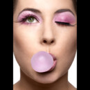 25 ans Make Up For Ever : look rose Bubble Gum