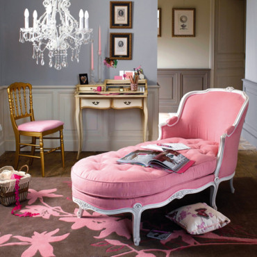 un salon baroque du glamour chic en rose et noir glamour toujours d co. Black Bedroom Furniture Sets. Home Design Ideas
