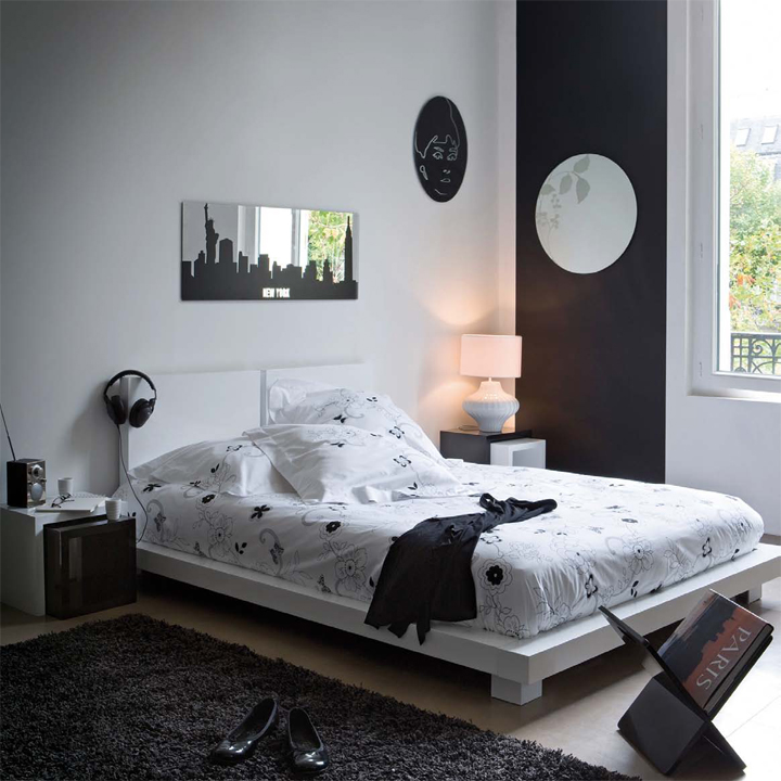 Chambre contemporaine deco for Deco chambre adulte contemporaine