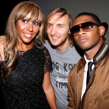 Les stars à la Fashion Week de Paris : Cathy Guetta, David Guetta, Usher