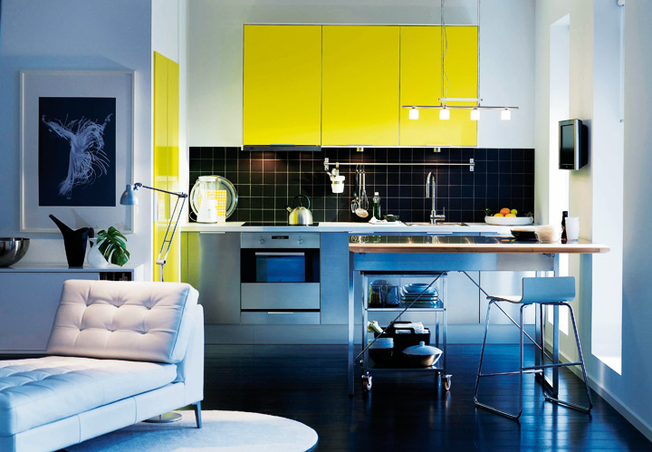 les plus belles cuisines ikea cuisine rubbrik applad jaune ikea d co. Black Bedroom Furniture Sets. Home Design Ideas