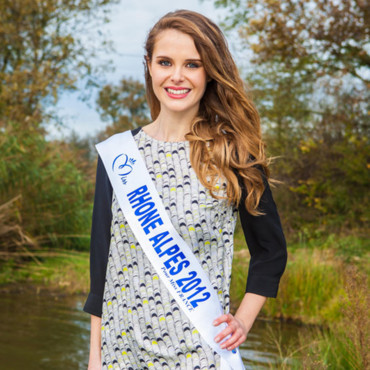 Candidates Miss France 2013 : Julie Jacquot, Miss Rhône-Alpes 2012