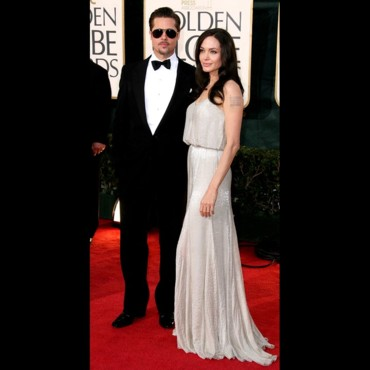 Brad Pitt et Angelina Jolie aux Golden Globes 2009