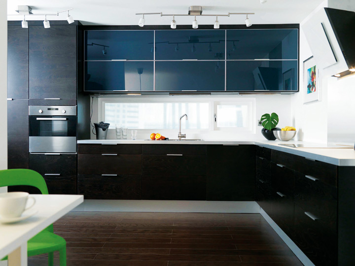 les plus belles cuisines ikea cuisine nexus noir ikea. Black Bedroom Furniture Sets. Home Design Ideas
