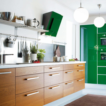 les plus belles cuisines ikea cuisine nexus vert ikea d co. Black Bedroom Furniture Sets. Home Design Ideas