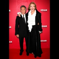 Photo : Dustin Hoffman et Emma Thompson sur le tapis rouge des César