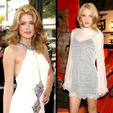 People : Doutzen Kroes and Jessica Stam