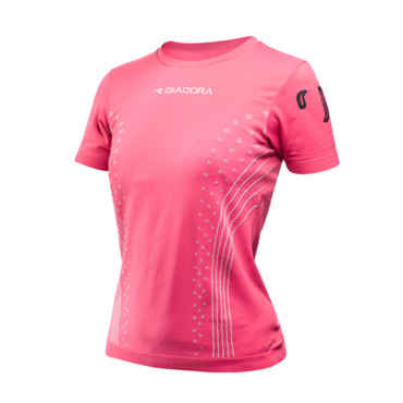 Le t-shirt rose Diadora