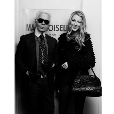 lake Lively et Karl Lagerfeld melle Chanel