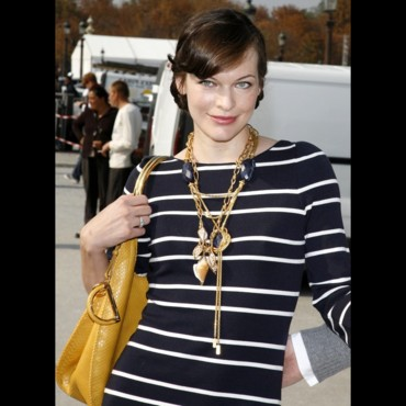 Les stars à la Fashion Week de Paris : Milla Jovovich