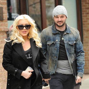 Christina Aguilera et Matt Rutler à New York en avril 2014f