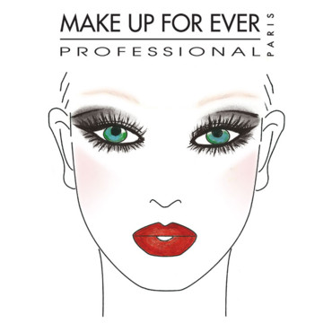 look maquillage principal de Madonna, combinant l'Aqua Rouge #8 et l'Aqua Shadow #0E Make Up For Ever
