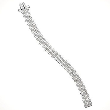 Bracelet souple je le veux or gris et diamants Mauboussin