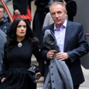 Les stars  la Fashion Week de Paris : Salma Hayek, Franois-Henri Pinault