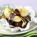 Papillote poire chocolat