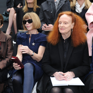 Anna Wintour et Grace Coddington au défilé Chanel