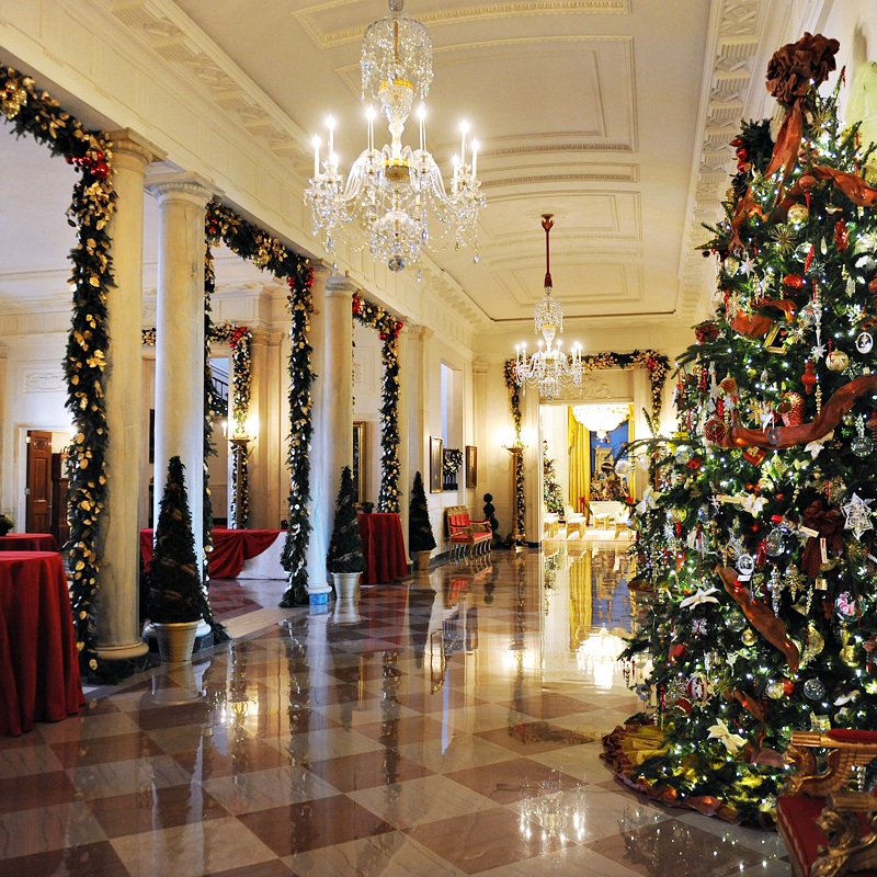 Michelle obama d voile sa d co de no l la maison blanche for Decoration de la maison blanche noel