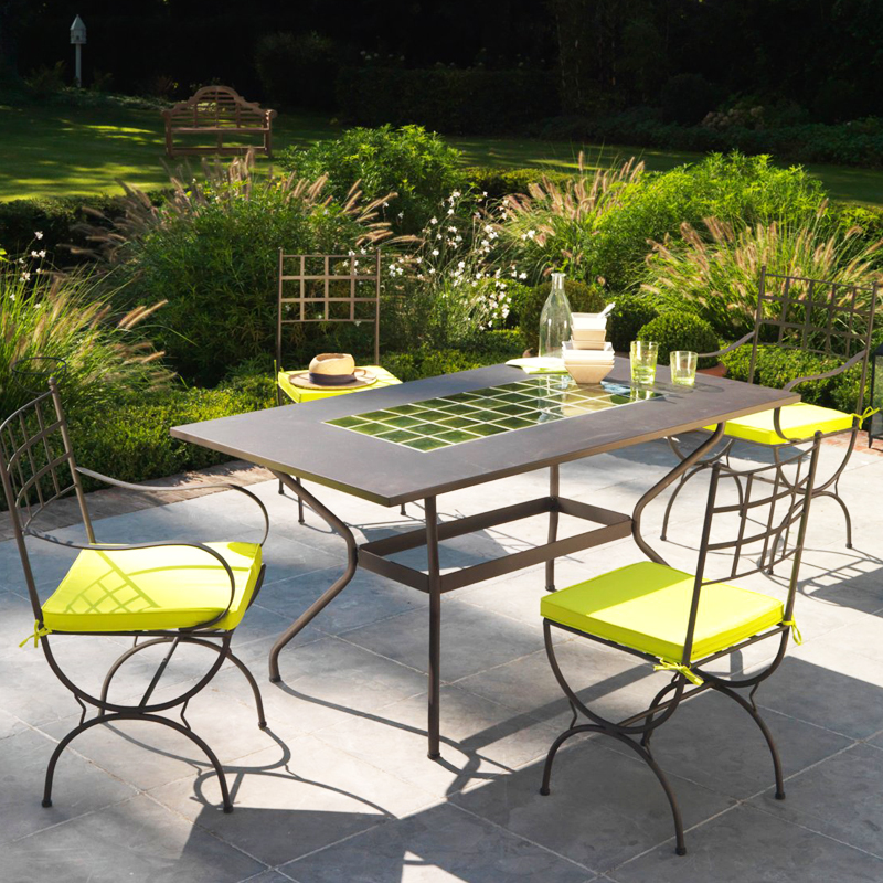 Mobilier exterieur fer forge - Table de jardin fer forge ...