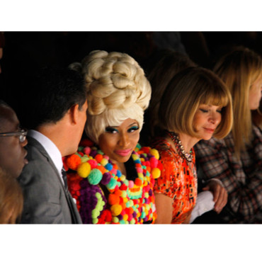 Fashion Week New York Nicki Minaj à côté d'Anna Wintour défilé Carolin Herrera
