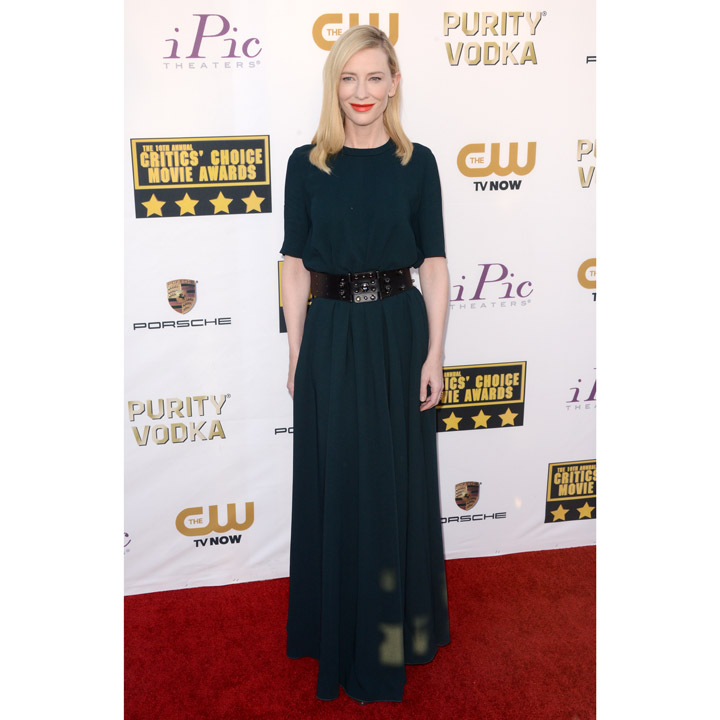 Cate Blanchett en Lanvin au Critics's Choice Movie Awards à Los Angeles en janvier 2014
