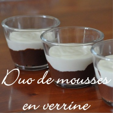 Duo de mousses au chocolat en verrine
