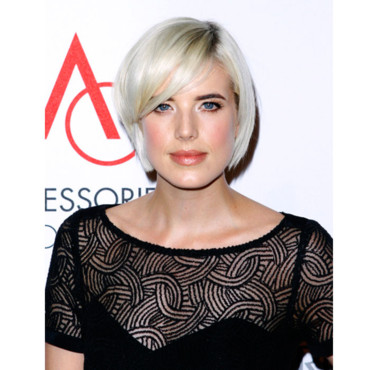 Agyness Deyn blonde platine coupe carrée à New York pour le 15e Annual Accessories Council Excellence (ACE) Awards 2011