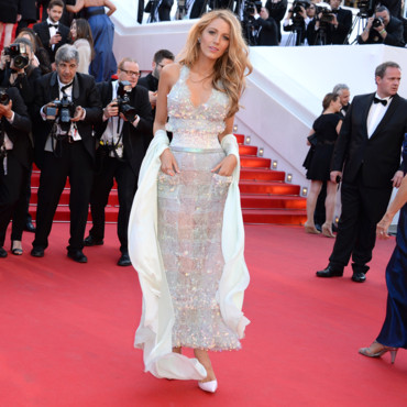 Blake Lively pour la projection du film Mr Turner au Festival de Cannes 2014 le 15 mai 2014