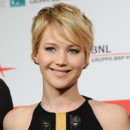 Jennifer Lawrence lors du photocall de Hunger Games Catch Fire lors du Festival de film de Rome le 14 novembre 2013