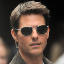 Tom Cruise sur le tournage d'Oblivion (photo 2012)
