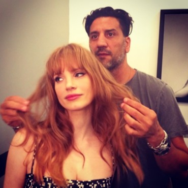 Jessica Chastain et sa frange sixties