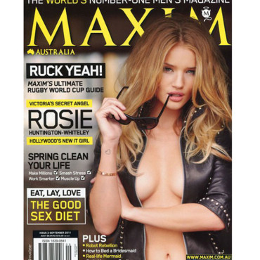 Rosie Huntington-Whiteley en couverture de Maxim