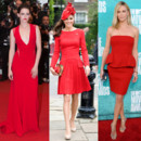 Kate Middleton - Kristen Stewart - Charlize Theron l'art de la robe rouge