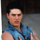 "Tom Cruise sur le tournage de ""The Outsiders""."