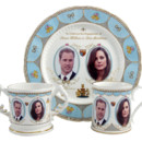 Vaisselle en porcelaine à l'effigie de Kate Middleton et du prince William