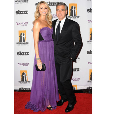15e Hollywood Gala Awards George Clooney et Stacy Keibler