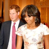 Le Prince Harry et Michelle Obama