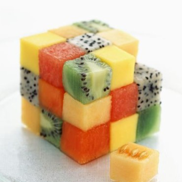 Rubicube de fruits cuisine for Decoration salade de fruits