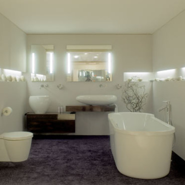 salle de bain mise en sc ne romantique chez duravit tendances d co d co. Black Bedroom Furniture Sets. Home Design Ideas
